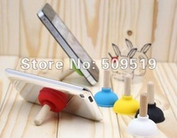 2012 EMS fast shipping 100 pcs iPlunger Plunger Sucker Stand for Cell Phone for iPhone 3G/4G/4GS  iPod very cute