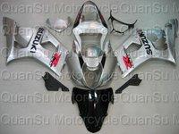 Free shipping SUZUKI 03-04 GSXR1000 GSXR 1000 Bodywork Fairing K3   16 silver black