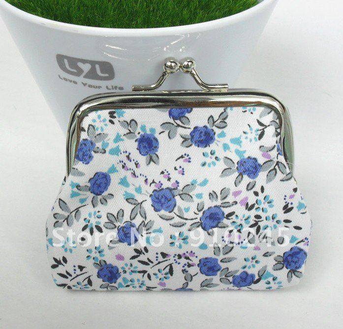The new color broken cotton cloth art more lovely clasp zero purse(China (Mainland))
