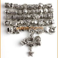 Wholesale - 50 MIXED 50Styles DESIGN Charms Beads Tibetan Silver DIY bEADS Fit CHARM Bracelets JOBLOT 151315