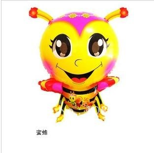 free shipping wholesale promotion cartoon helium air fly bee foil balloons for wedding birthday party ,mylar bee