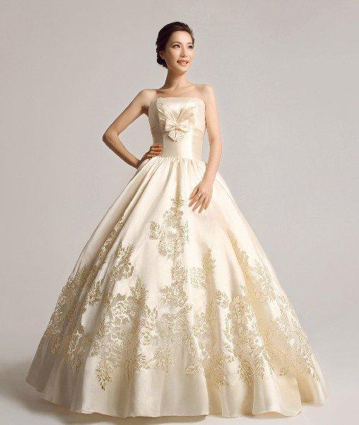 Свадебное Золотое Платье Купить