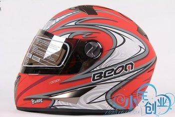 Freeshipping BCM001# BEON B-500 Classic Full Face Helmet Winter Helmet Racing Helmet International Version Motorcycle HelmetsN6