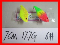 Free shipping!7cm17.7gram fishing lure hard plastic lure,40pcs/lot,2 color available Minnow lure