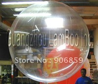 Transparent Color 2m Diameter Inflatable Helium Balloon With Plastic Boston Air Valve/Inflatable Sky Ball/Free Shipping