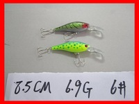Free shipping! 8.5cm6.9gram fishing lure hard plastic lure,40pcs/lot,2 color available Minnow lure