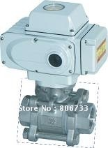 3PC ELECTRIC BALL VALVE WITH THREAD,100WOG, 100N*M ACTUATOR, OFF/ON(China (Mainland))