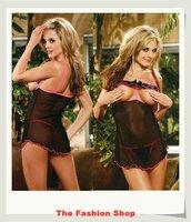 2014 New Sexy Underwear Sexy Lingerie Hot Sleepwear Set OK8517,Black