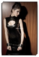 Free Shipping Sexy Leather Party Dresses New 2014 Women Club Wear DL9087 Free Size Black