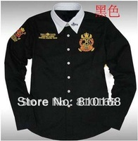2012 free shipping hot sale men's  shirt  brand cotton shirt   high qulity   long sleeve woven shirt