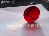 EMS Free Shipping,40mm Red Sunflower for Curtain Pendants or Lighting Accessories/Crystal Beads