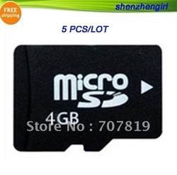 Small Wholesale of 5pcs/lot Just Sell OEM Brand Original Chip 4G 4GB MicroSD/SDHC T-Flash TF Card(China (Mainland))