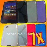 100pcs/lot Free shipping Soft TPU Gel Case for Samsung Galaxy Tab 7.0 Plus P6200 New
