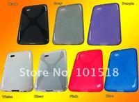 50pcs/lot Free shipping Soft TPU Gel Case for Samsung Galaxy Tab 7.0 Plus P6200 New
