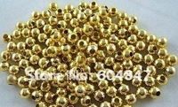 Free Shipping! 600pcs/lot gold plated round spacer beads 3.2mm Findings