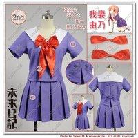 The Future Diary Mirai nikki 2nd Gasai Yuno Cosplay Costume Any Size Ver1