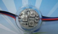 LED module,30mm diameter,3pcs 5050 SMD LED, without IC,20pcs a string,DC12V input