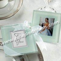 Free Shipping + Wholesale Promotion Price, 10sets/lot(set of 2 pcs) Glass Photo Coaster