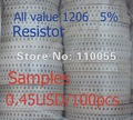 100PCS/Lot  R1206 resistor  1206 39 OHMChip resistor 1206 (3.0x1.6mm) 3216 Tolerance:5%  RoHS compliant