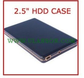 "2.5"" USB2.0 SATA Aluminum HDD External Enclosure HDD Case HDD Box +Free shipping ULS-217"