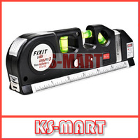 FREE SHIPPING Aligner Horizon Vertical Laser Level Measure Tape 8FT KS2274