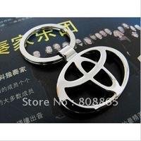 K1241 free shipping 12 pcs/lot car keychain Toyota car key chains fashion keychain alloy key rings high-grade quality keychains