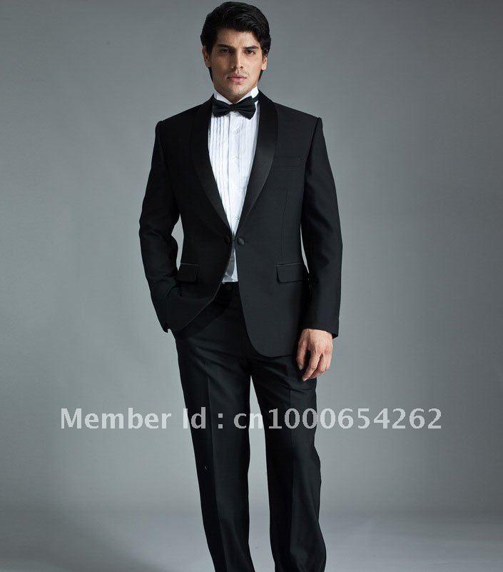 Wholesale Groom Tuxedos Best men Suit Wedding Groomsman Men Bridegroom
