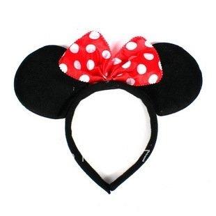 100pcs/lot,free shipping by EMS,plastic plush minni mouse ear,minnie mouse ears headband,kids headband for Christmas