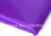 purple  organza sheer organza fabric for wedding backdrop decorate