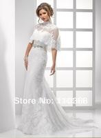 Ivory Lace  Strapless Scalloped Neckline Sleeveless Bridal Wedding Dresses,Wedding Bridal Dresses-Chelsa