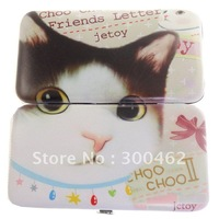 12pcs kitty metal Box Birthday Gift Set smile face Manicure tool Nail Care set Free Shipping