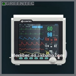 ICU Patient Monitor with ECG, NIBP, SPO2, Pulse Rate, Respiration, Temperature and Optional Printer. CMS6000B Patient Monitor(China (Mainland))