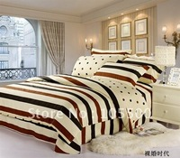 Free Shipping Fashion 100% Cotton Printing Bed Sheets 4pcs Bedding Set For Retail & Wholesale HT-YCTPBS-35