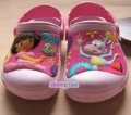 Free Shipping  Wholesale and sell like hot cakes third generation DORA  Kids sandal/slippers shoes size :C6-7-C12-13/Purple
