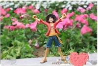 Free Shipping One Piece The New World Grandline Men P 10 Figures Monkey D Luffy (size:17cm)