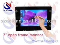 "7"" aluminum shell open frame touch wide screen monitor with Automatic rearview and LED Backlight"