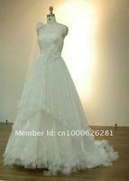 2012 new boutique luxury wedding flowers braided style princess skirt trailing wedding
