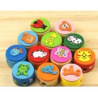 Free shipping Wooden cartoon animals Pencil Sharpener/wooden pencil cutter/kids gift/stationery set/wholesale