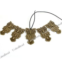 New Design Charms Animal Shape Antique Bronze Tone Pendants Beads Findings 15PCS 140804 Free Shipping