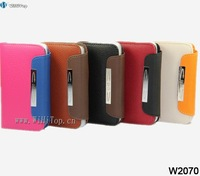 High Quality PU Leather Case for iPhone 4S.With Credit Card Slots. with Lanyard. Different Colors.Leather Wallet for iPhone 4s