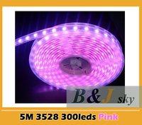 LED sales 5M Pink 3528 SMD 300p LED Strip light 12V,Silica gel tube waterproof