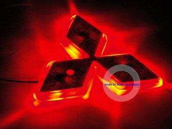 Free Shipping NEW Fashion Shiny LED  Car Emblem Badges  Mitsubishi Lancer EX, Galant  wholesale & retail