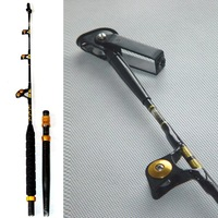 Free shipping by EMS, Boat rod, Trolling rod 1.6m, slide guide, transduction, aluminum blocks, aluminum tail, 90 lbs