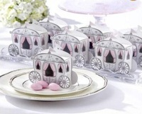 100PC Cinderella Enchanted Carriage Wedding Favor Boxes