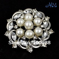 Free Shipping 6pcs/lot Fashion Alloy Pearl Brooches Jewelry P168-383A