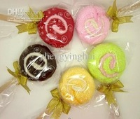 Wholesale - free shipping cake towel lollipop towel wedding gift christmas gift wedding towel cake