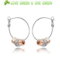 Free Shipping GiftBag Hotselling Wholesale Crystal Rhine stone Alloy 18KGP 3 Circles drop pendant earrings fashion Jewelry 40682