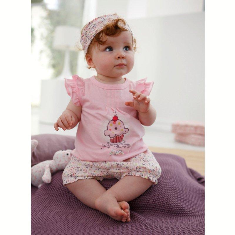cute baby girl clothing set, t-shirt+pants+headband baby suits 5sets ...