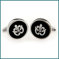 Wholesale Fashion Cufflinks, Novelty Cufflinks, Black Enamel Cufflinks, Trendy Jewelry Cufflinks, Factory Price, Free Shipping