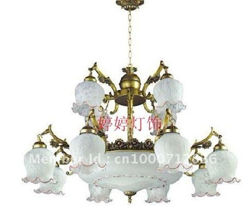 Free shipping Mediterranean style chandelier table lamp lights two pastoral light Restaurant(China (Mainland))